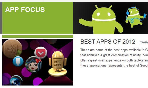 Google veröffentlicht die Android-Apps des Jahres 2012