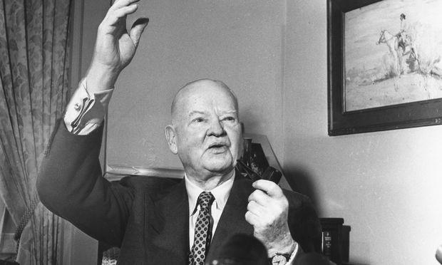 Präsident Herbert Hoover, der Unterzeichner des Protektionismus-Gesetzes