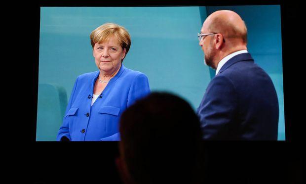 Angela Merkel und Martin Schulz beim bisher einzigen TV-Duell.