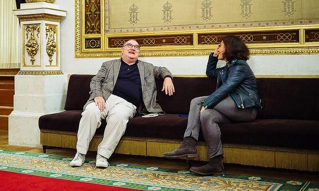 """Udo Samel im Gespräch mit """"Presse""""-Redakteurin Judith Hecht"""