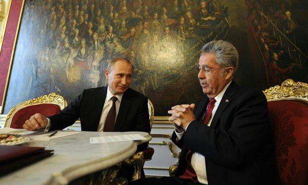 Archivbild: Putin und Fischer im Jahr 2014