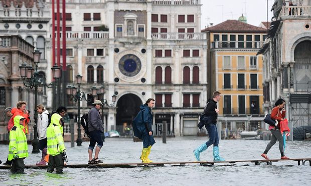 ITALY-VENICE-WEATHER-FLOOD