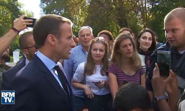 Arbeitsloser Gärtner: Macron erntet heftige Kritik für
