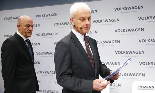 Volkswagen-Chef Müller, CFO Witter