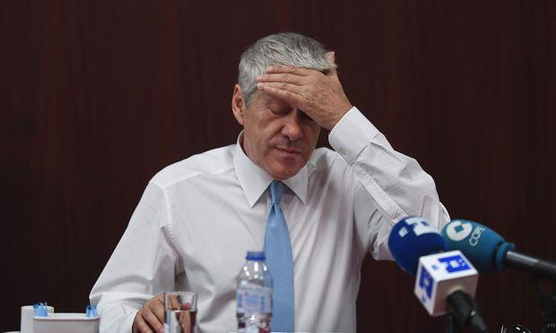 Archivbild von José Socrates bei einem Medientermin Mitte Juli in Lissabon.