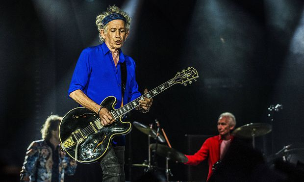 The Rolling Stones in Warsaw KEITH RICHARDS CHARLIE WATTS The Rolling Stones paly at the national A