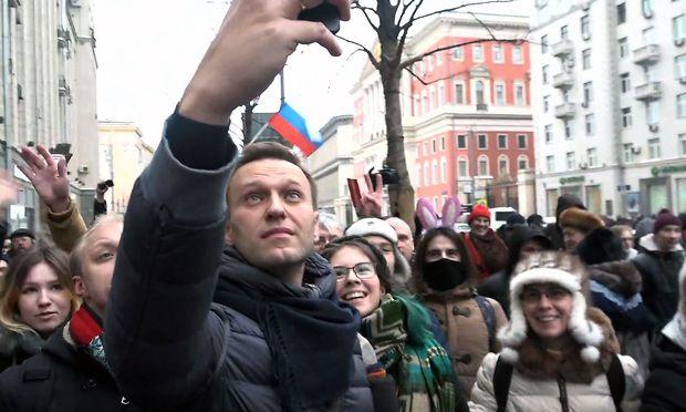 Alexej Nawalny Ende Jänner in Moskau.