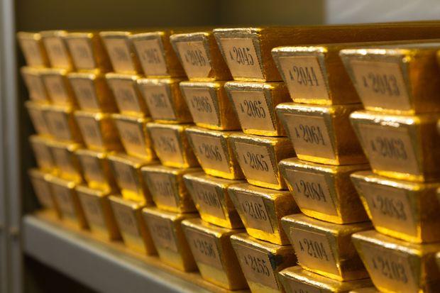 Blick auf den Goldschatz der Deutschen