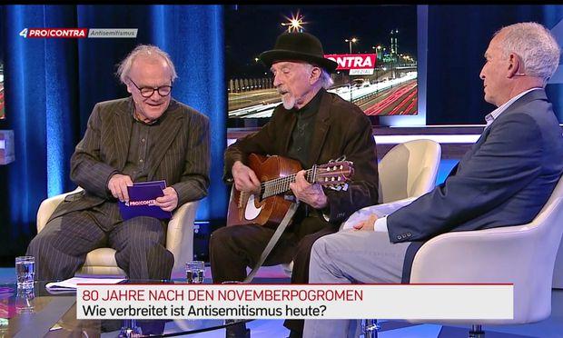 Es ist nicht so leicht, Rassist zu sein: Ein sehr Wienerisches Lied gab Arik Brauer zum Besten.