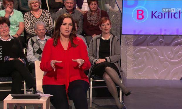 Barbara Karlich, offenbar gut gelaunt beim Jubiläum.  / Bild: (c) Screenshot