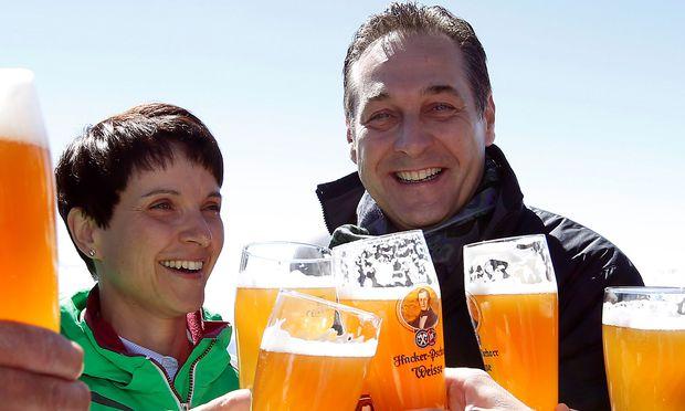 Frauke Petry (AfD) und Heinz-Christian Strache (FPÖ) / Bild: REUTERS