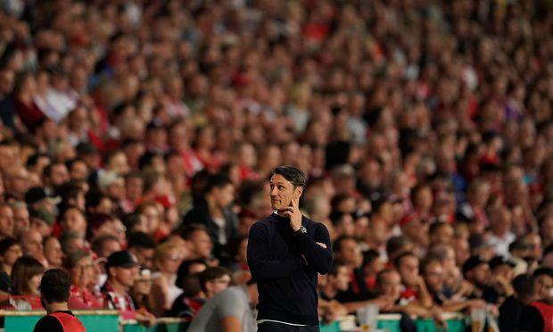 Chefcoach Niko Kovac (hier beim Cupsiel gegen Cottbus) steht trotz Double in der Premierensaison selbst unter Beobachtung.