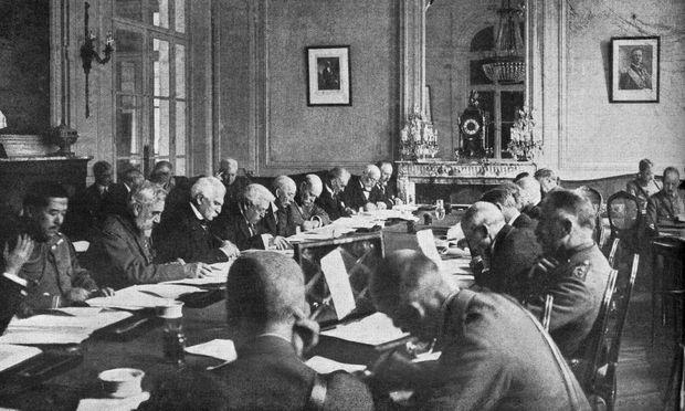 Verhandlungen über den Frieden in Versailles