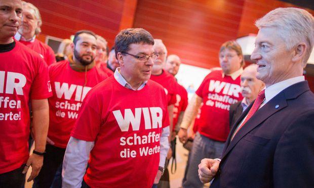 Thyssenkrupp-Mitarbeiter wehren sich gegen die Pläne von Konzernchef Heinrich Hiesinger