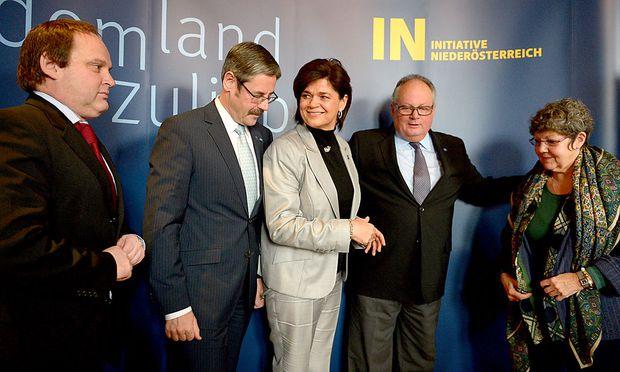 NÖ-Wahl: Konrad, Perner und Schabl werben für Pröll