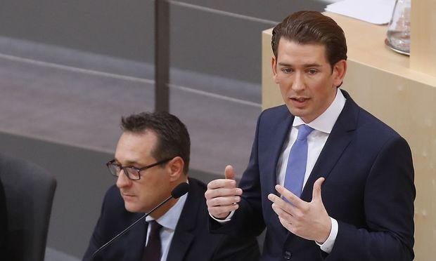 Bundeskanzler Kurz erklärt sich und seine Politik vor dem Nationalrat und seinen Regierungskollegen.