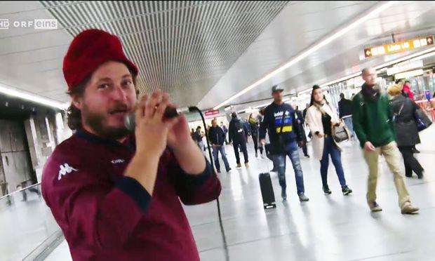 """""""Dave"""" probierte sich als """"U-Bahn-Star"""""""