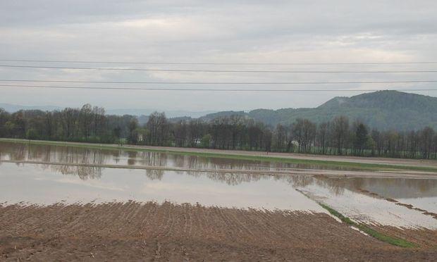 Überschwemmung in St. Georgen an der Stiefing.