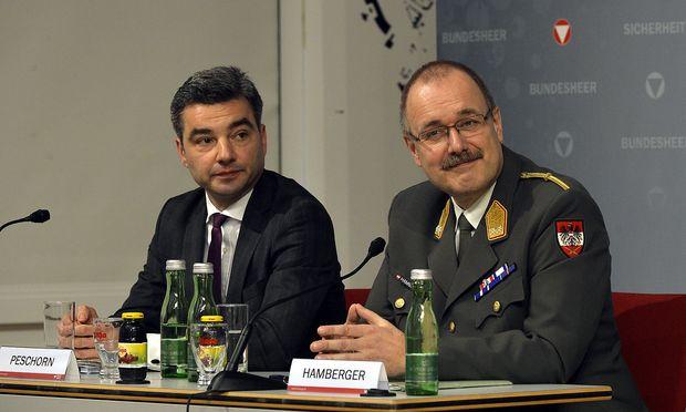 PK 'BERICHT DER TASK FORCE EUROFIGHTER IM BMLVS': PESCHORN/HAMBERGER