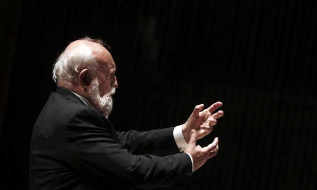 Polish composer Krzysztof Penderecki conducts the Israel Philharmonic Orchestra in Tel Aviv