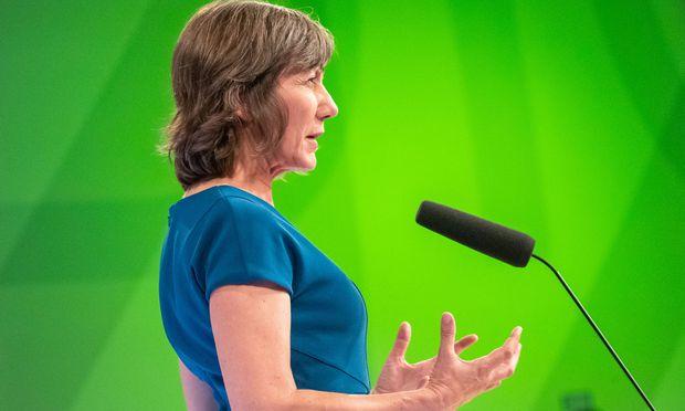 Birgit Hebein, die erste offizielle Parteichefin in der Geschichte der Wiener Grünen.