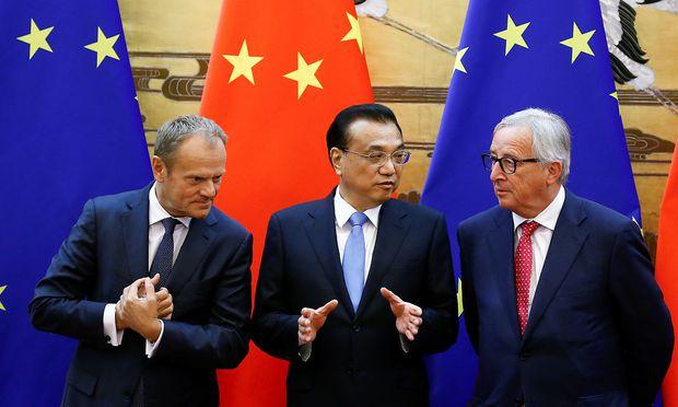 Spitzentreffen in Peking - Neue Einigkeit zwischen EU und China