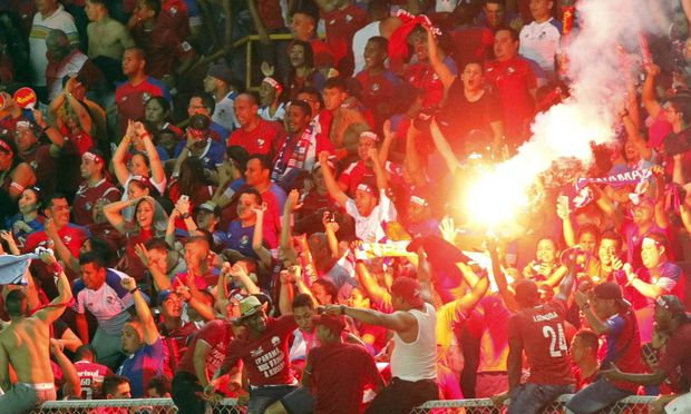 Panama s fans jubilate the victory after the FIFA 2018 Russia World Cup Concacaf qualifier between P