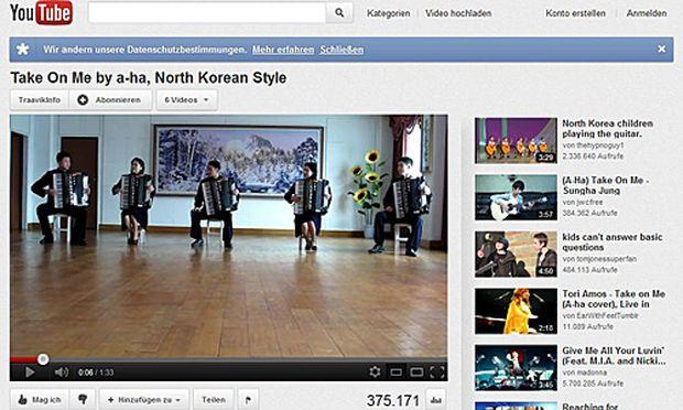 Akkordeonspieler Nordkorea sind Renner