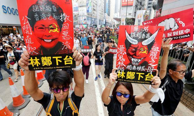 Massendemo in Hongkong:Zwei Millionen Menschen protestieren