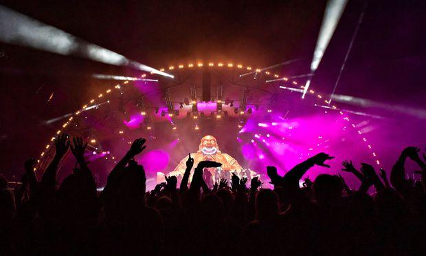 Roskilde-Festival: Gorillaz-Sänger fällt von Bühne