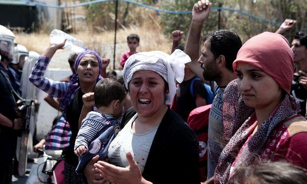Moria, ein Lager auf der griechischen Insel Lesbos.