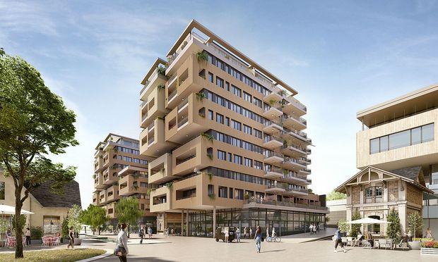 Wohnprojekt Korso im Viertel Zwei vom österreichischen Architekten Martin Kohlbauer.