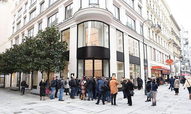 Der neue Apple-Store in Wien.