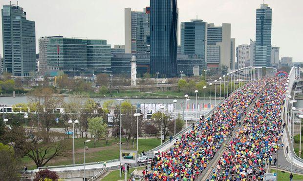 Immer wieder beeindruckend: der Start des Wien-Marathons.