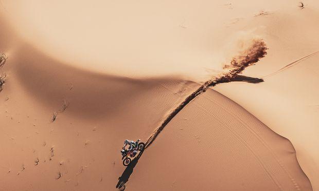 Jänner 2018, sein Triumph nach 8300 Kilometern: KTM- Pilot Matthias Walkner ist Dakar-Sieger.