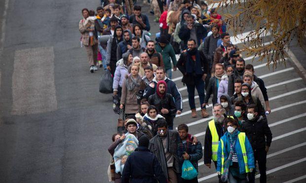 Archivbild: Massenflucht nach Österreich.