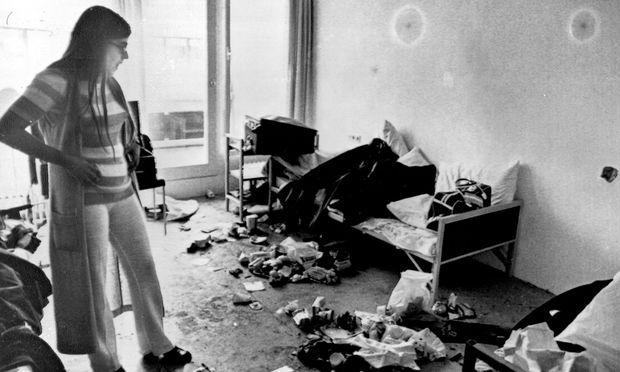 Ankie Spitzer 1972 in München: Palästinensische Terroristen ermordeten ihren Mann, den israelischen Fechttrainer André Spitzer.
