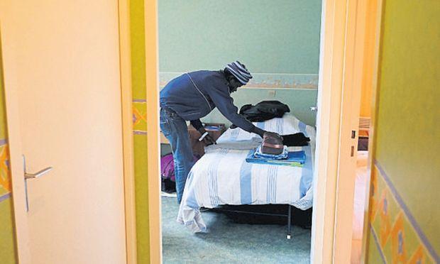 Flüchtlingsunterbringung wird oft zum Streitthema. Hier im Bild: eine Unterkunft in Frankreich.