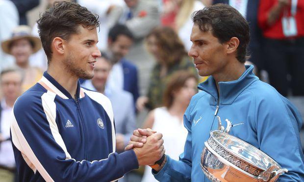 Rafael Nadal ESP et Dominic Thiem AUT CELEBRITES Finale Dames Roland Garros 2018 09 06 201
