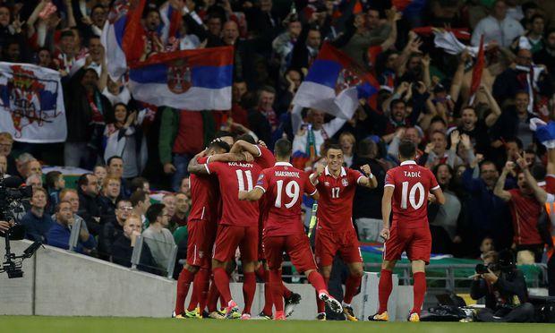 Serbien kann im Ernst-Happel-Stadion auf die Unterstützung seiner Fans zählen.