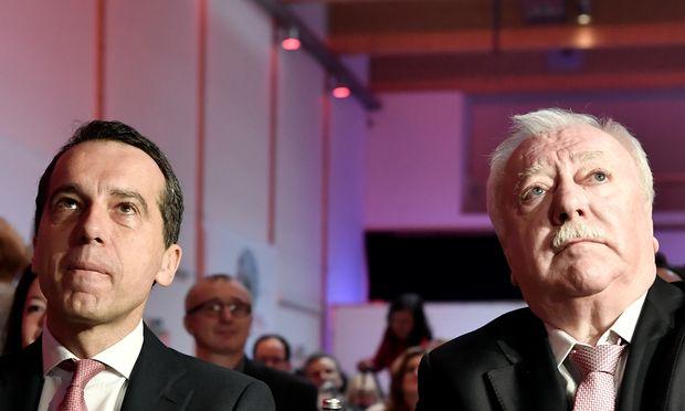 Bundeskanzler Christian Kern und Wiens Bürgermeister Michael Häupl.