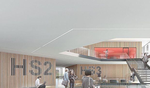 Visualisierung: Innenansicht des Studienzentrums