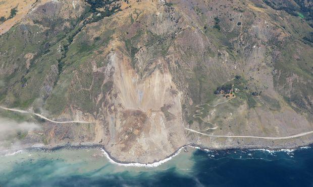 Eine Aufnahme des Erdrutsches.