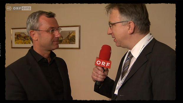 """Norbert Hofer: """"Wir haben uns sehr gewundert, was alles möglich war und freuen uns jeden Tag darüber."""" / Bild: (c) Screenshot ORF"""