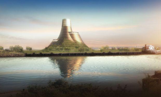 Landschaft. Ein künstlicher Vulkan von Heatherwick Studio.
