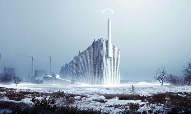 Rauchzeichen. Energie gewinnen und Ski fahren in Kopenhagen.
