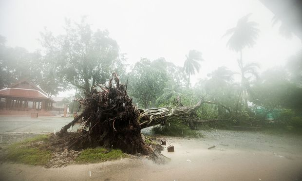 In der Provinz Nakorn Si Thammarart haben Regen und Sturm erste Schäden angerichtet.