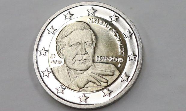 2-Euro-Gedenkmünze Helmut Schmidt.