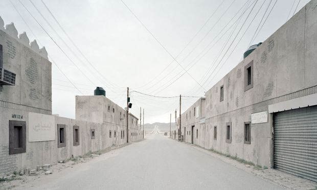 Militärsimulation. Junction City in den USA. Eine Stadt, die es nur gibt, solange Soldaten dort üben.