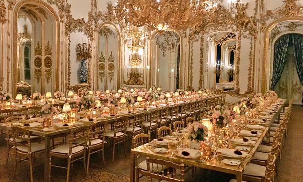 Palais  Liechtenstein.  Die Lancierung der Kapselkollektion wurde hochkarätig zelebriert.